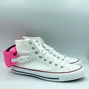 Converse CTAS Buckle Up Hi White Neo Pink White
